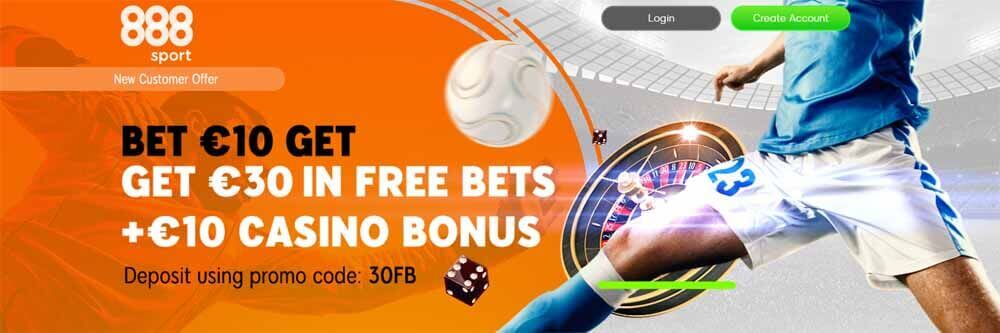 Bet £10 get £30 in Free Bets